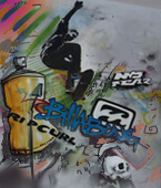ציורי קיר בסגנון גרפיטי